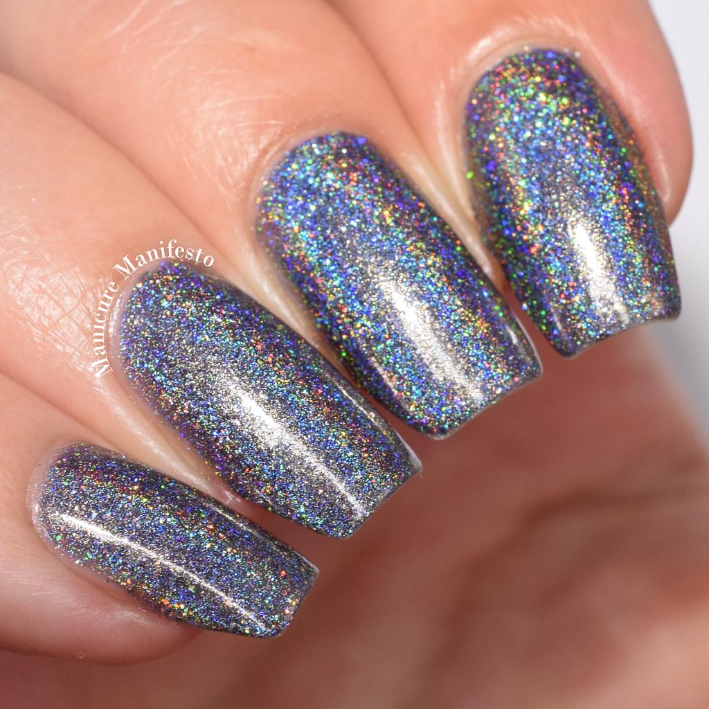 Charcoal holo nail polish