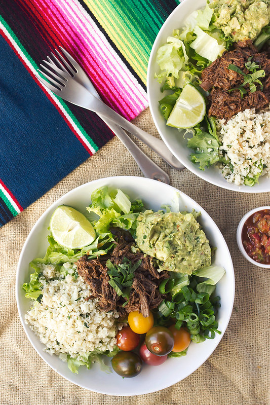 Chipotle Barbacoa Burrito Bowls with Cilantro Lime Cauli-Rice