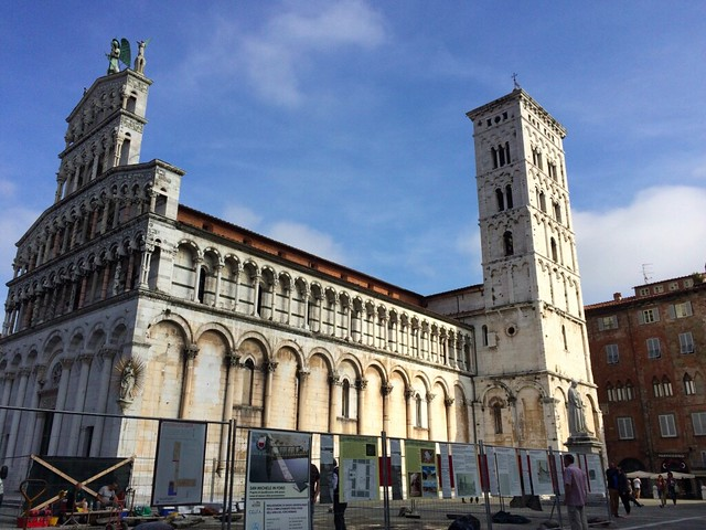 One of many churches in Lucca