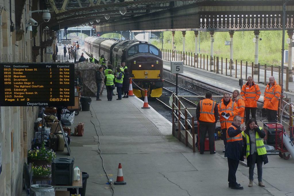 The Range Edinburgh >> Filming 'The Railway Man' at Perth station, 2012 | On 1 May … | Flickr