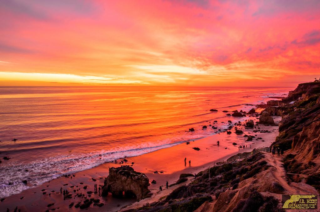 Best Malibu Sunset Red Yellow Orange Clouds Magical El