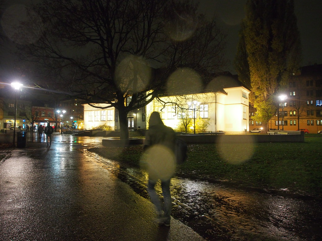 Wet winter night in Oslo