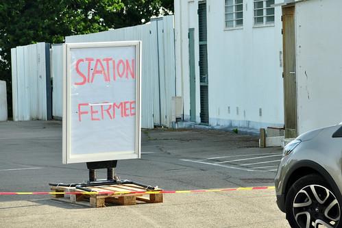 Bretagne-Urlaub 2016: Streik Benzinknappheit geschlossene Tankstellen Foto Brigitte Stolle 2016