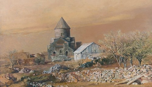 Pintura de un monasterio armenio