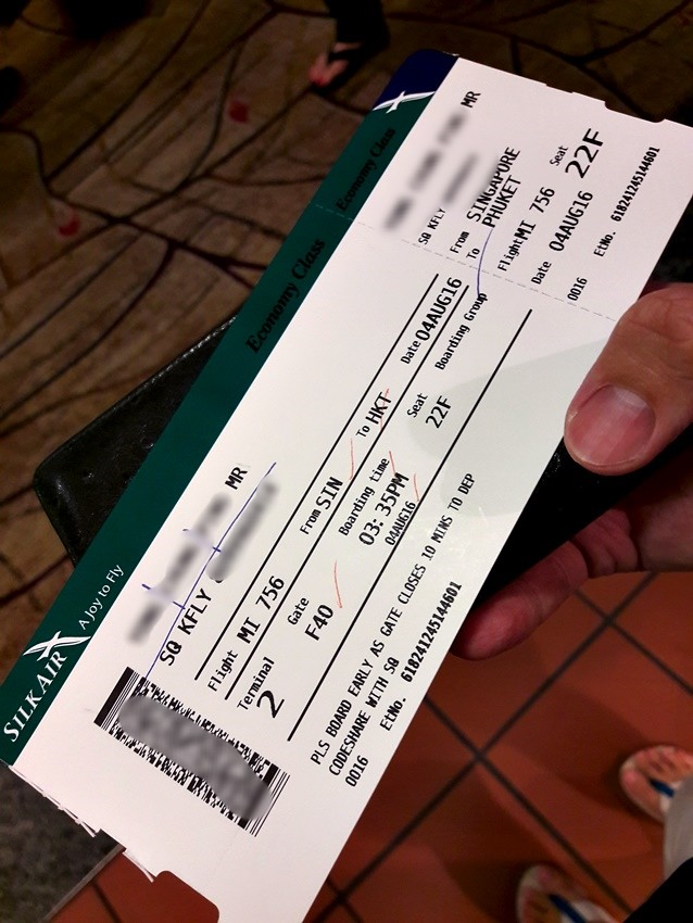 Review Of Silkair Flight From Singapore To Phuket In Economy