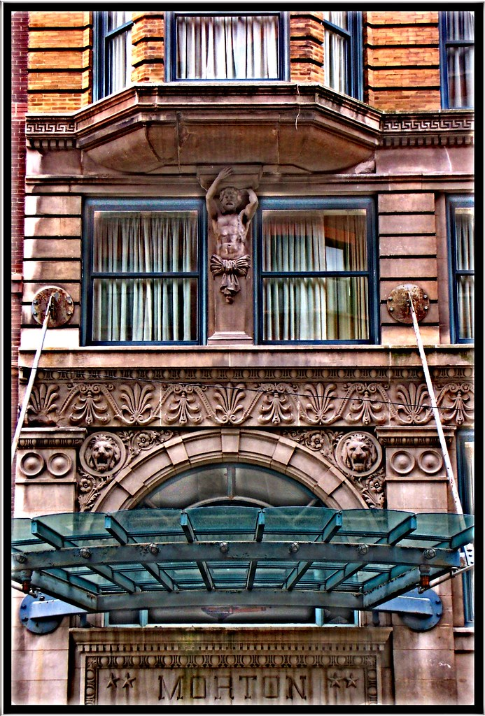 Chicago il wyndham blake hotel morton building print for The blake hotel chicago