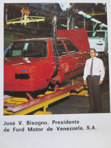 Jose V. Bisogno, President of Ford Motor de Venezuela, 1982