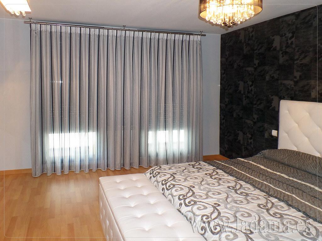 Cortinas modernas para dormitorio de matrimonio cabecero - Cortinas de dormitorios ...