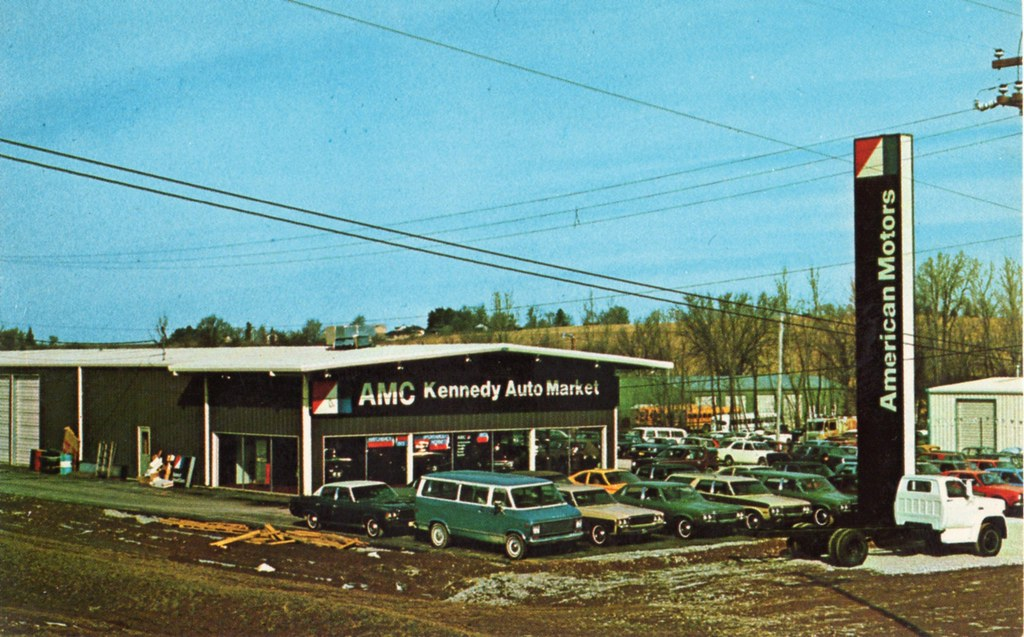 kennedy auto mart amc gmc iowa city iowa 1973 flickr. Black Bedroom Furniture Sets. Home Design Ideas