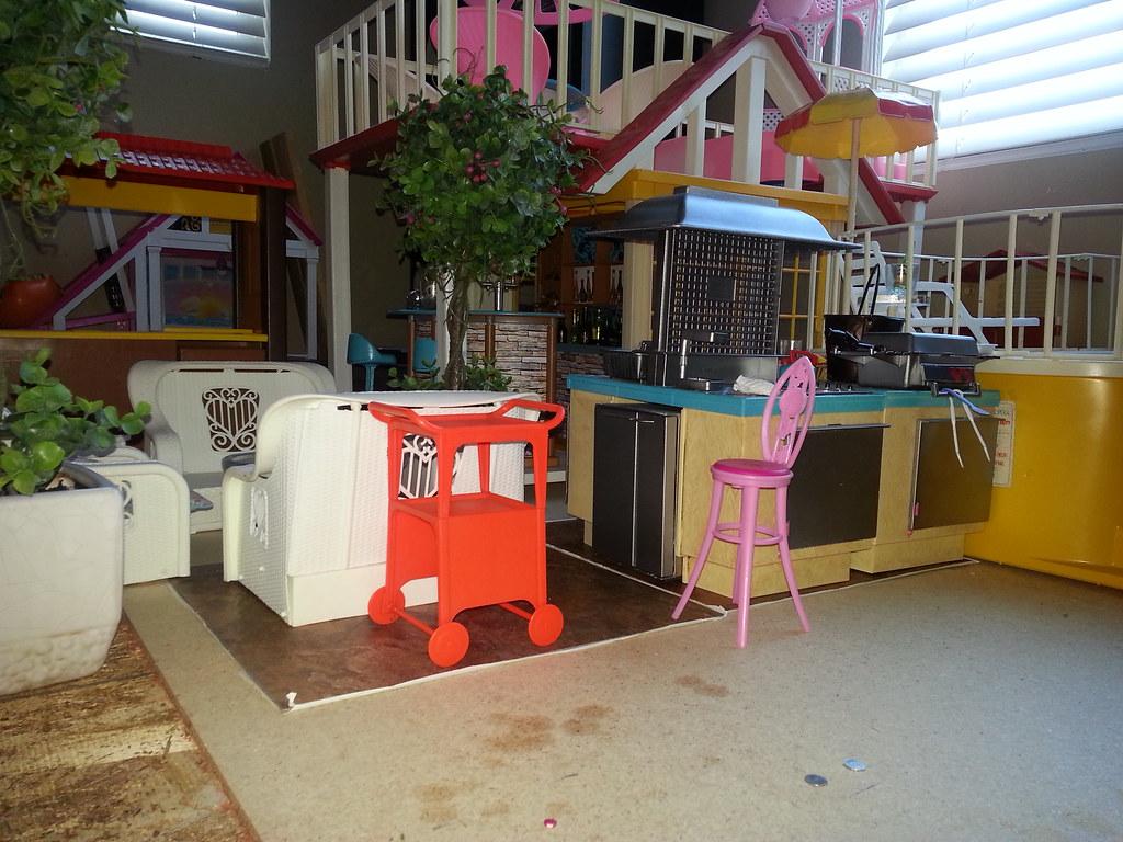 Vintage Barbie Dream House Backyard Space Dream Cottage