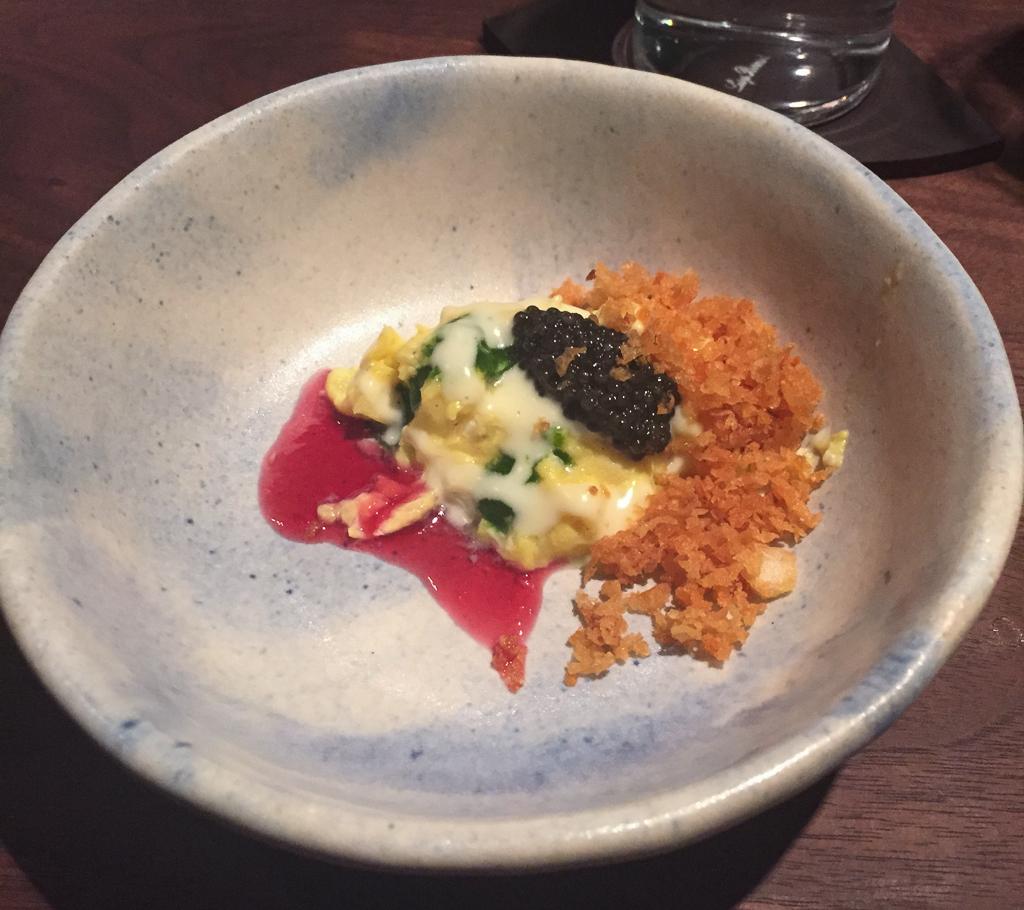momofuku ko soft scramble, potato, caviar, herbs | Get the f ...