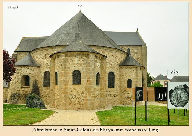 Abteikirche Klosterkirche Saint-Gildas-de-Rhuys Saint-Gildas-en-Rhuys romanisch Abt Abaelard Luise Rinser Foto Brigitte Stolle Bretagne 2016