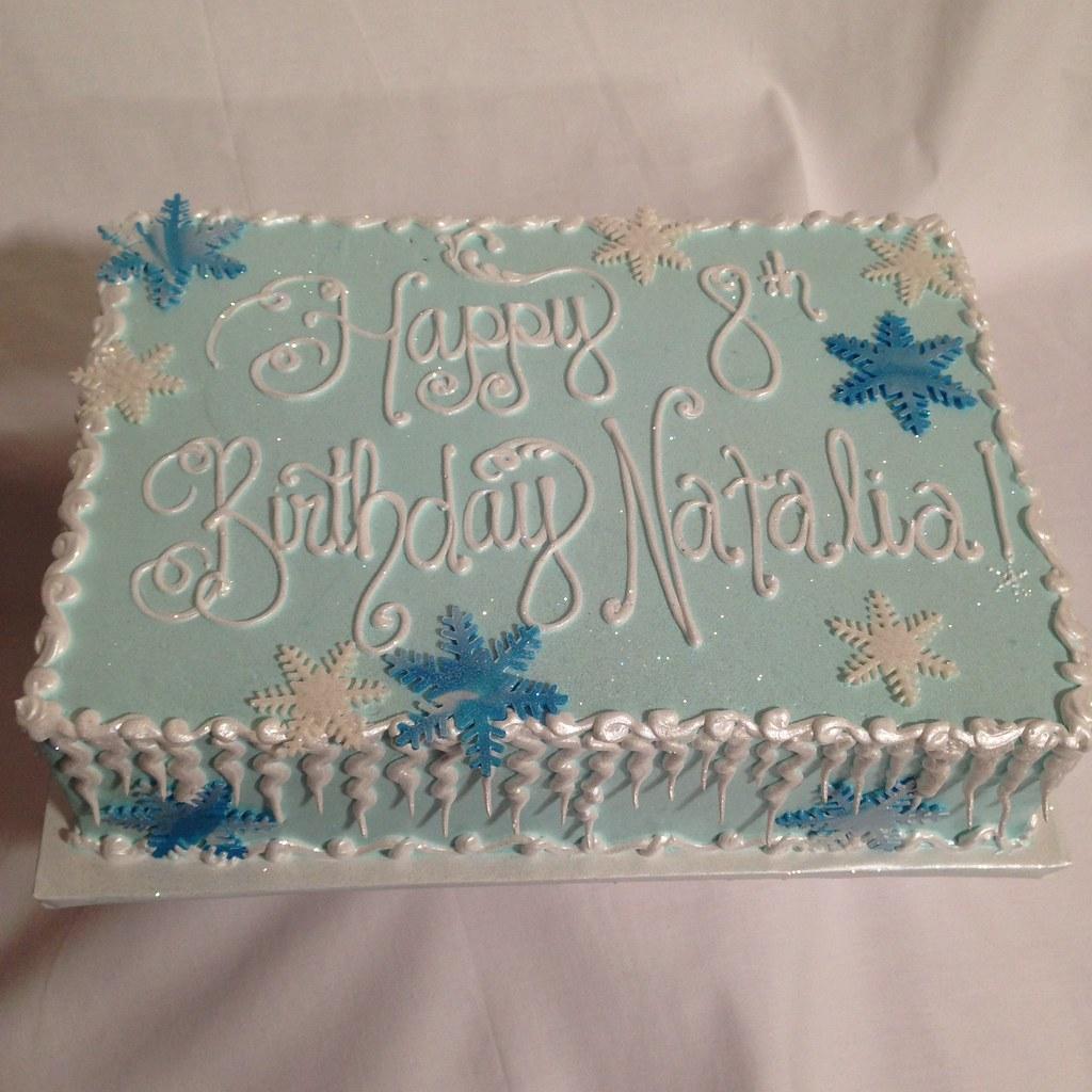 Frozen Birthday Sheet Cake