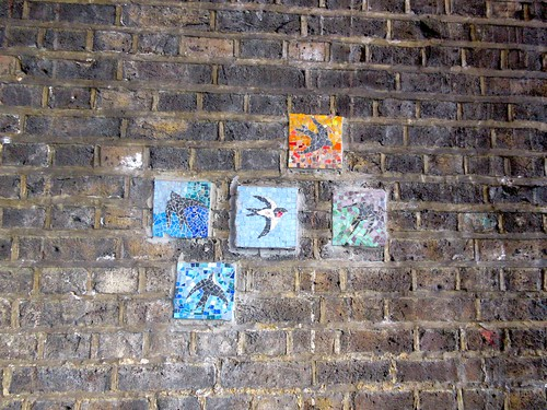 Mosaics Under Rail Bridge on Waterloo Road