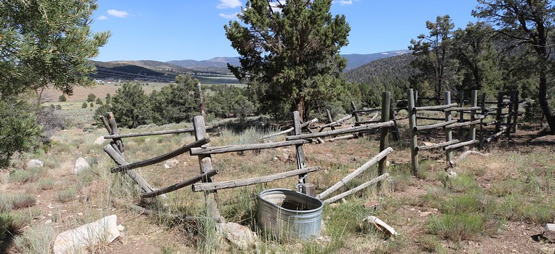 A stockade for horses at the Doble Springs Trail Camp