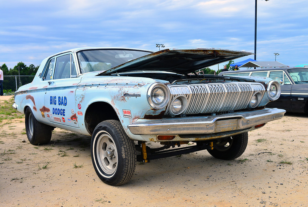 Big Bad Dodge Gasser At Steel In Motion At The Steel In