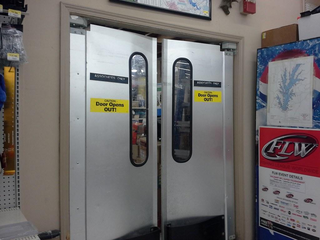Stock Room Doors : Old stockroom doors in the sporting goods department flickr