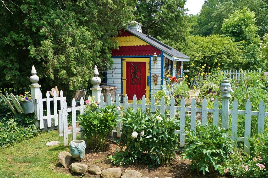 Vegetable garden pictures - White Picket Fence Near The Vegetable Garden Shed Karl Gercens