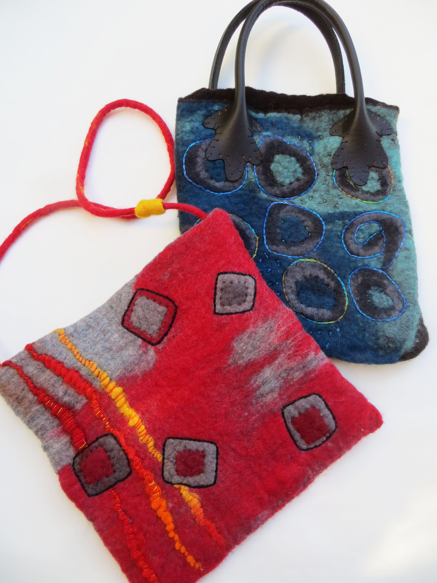 LaFazio felted purses