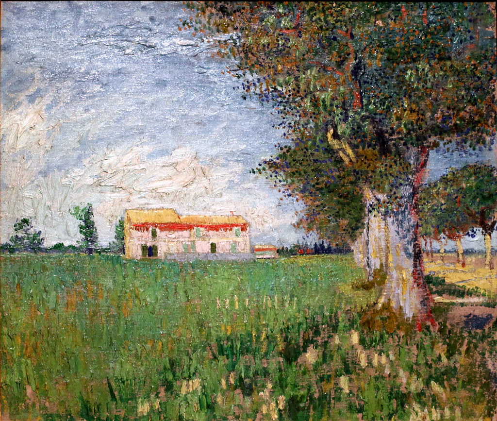 Vincent Van Gogh Farmhouse In A Wheat Field 1888 Flickr