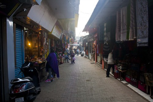Ram Jhula Market in Rishikesh, Uttarakhand, India