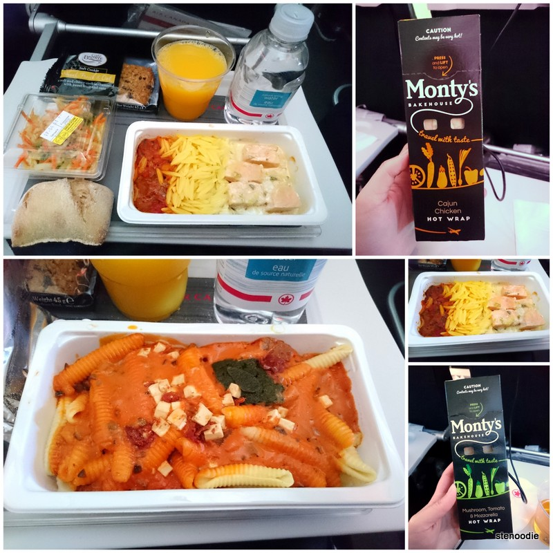 in-flight meal from Paris to Toronto Air Canada