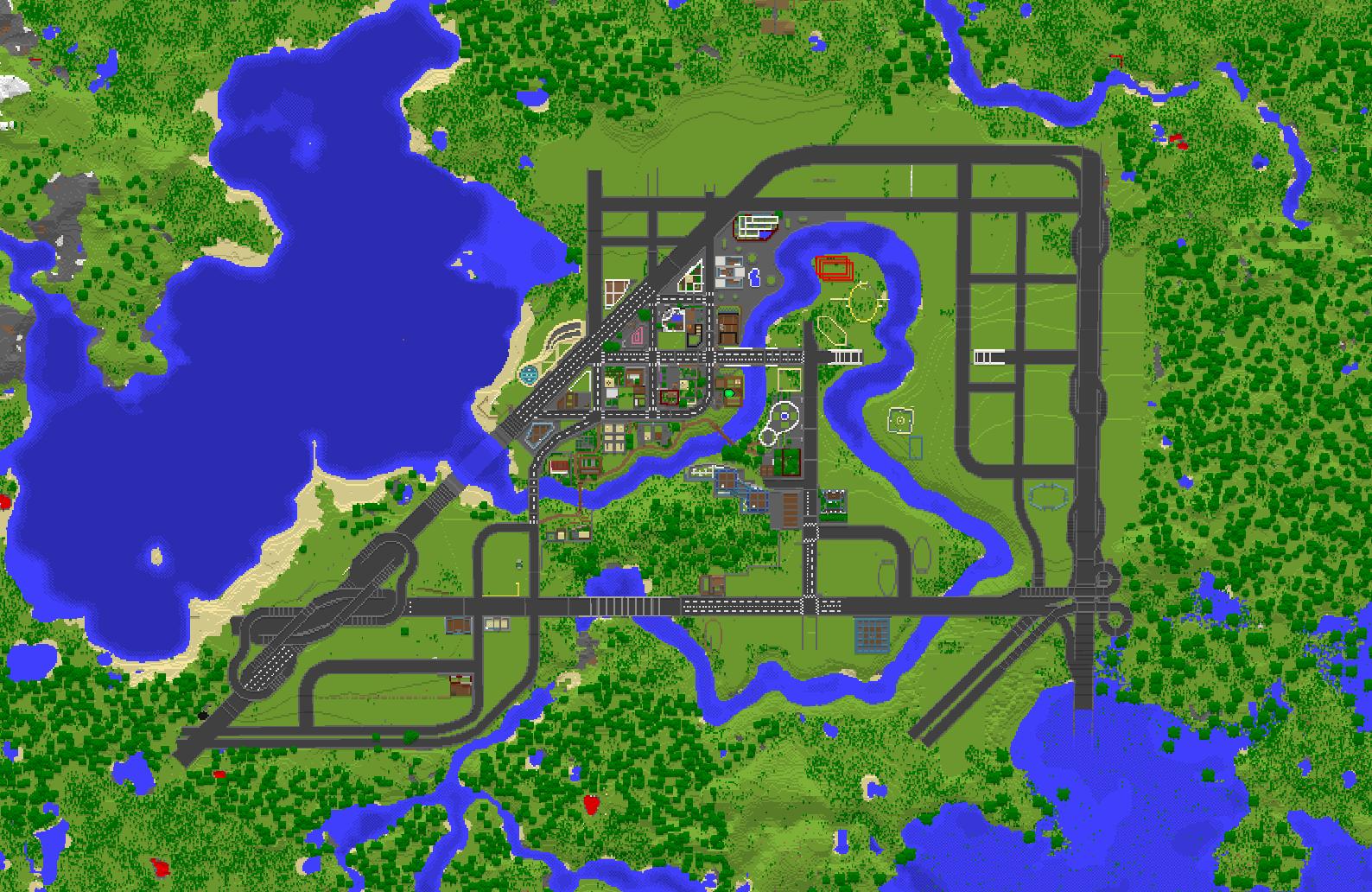 Luna Minecraft City - SkyscraperCity