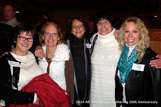 DSCF0764 Ann, Carol Jo, Kim, Tracey & Lisa at the 2014 All AHS Holiday Gathering