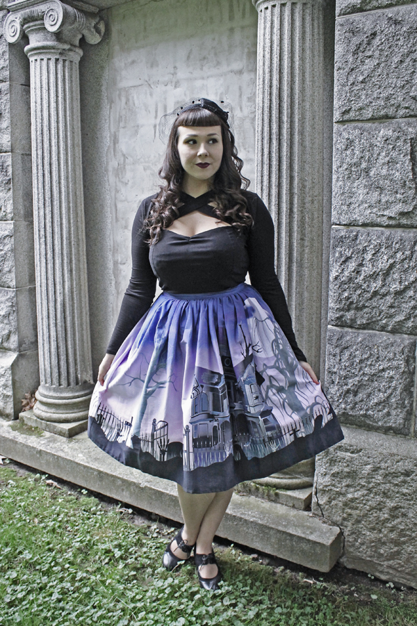unique vintage halloween skirt