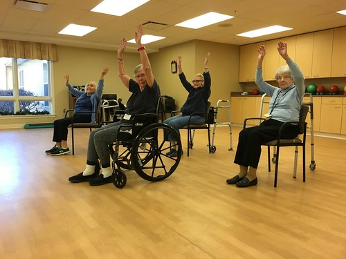 Residents dance