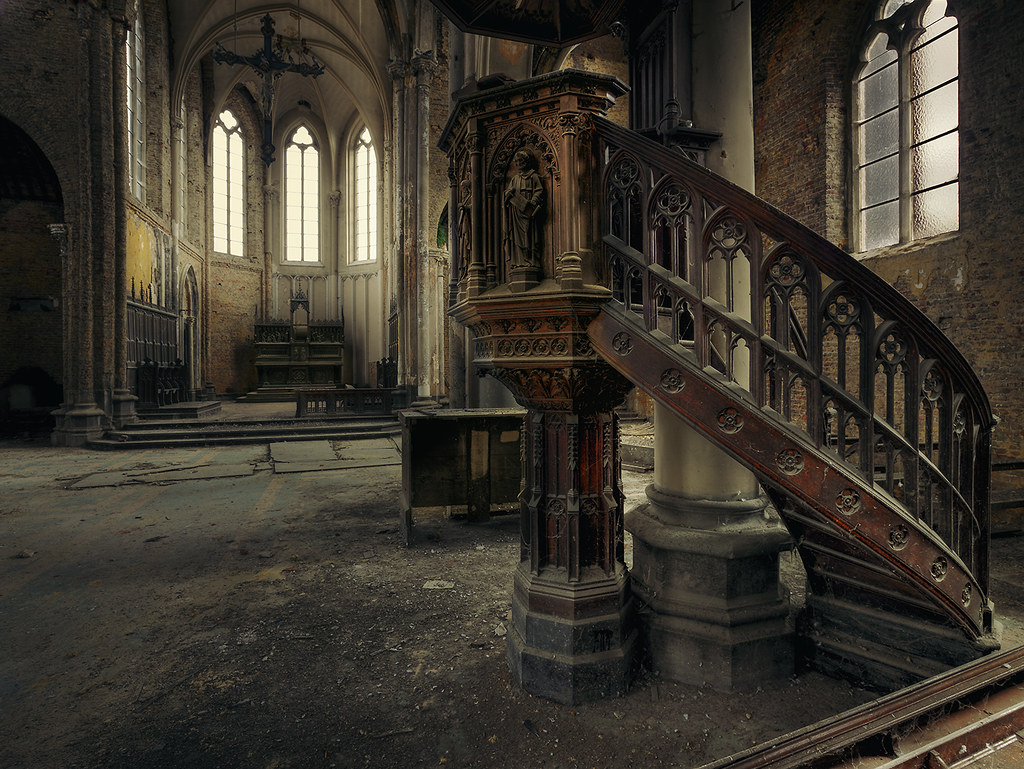 Blue Christ Church An Abandoned Church In Belgium