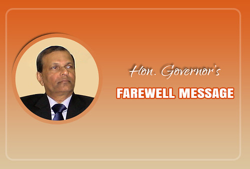 Outgoing Governor's Special Note of Appreciation & Farewell Message