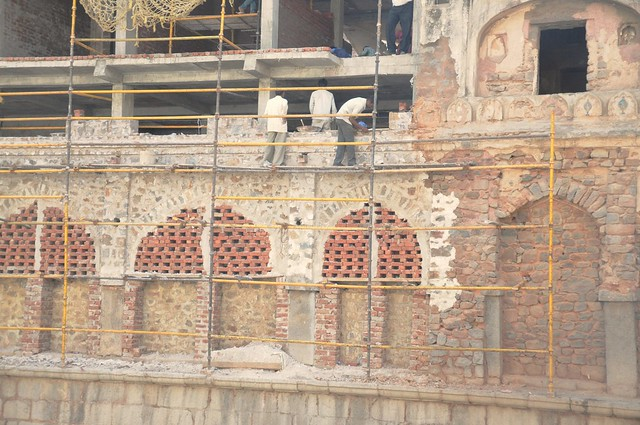 Now, a part of a densely-populated residential area, buildings have come up in the vicinity of the stepwell. Conservation work was carried out by the Aga Khan Trust for Culture, which restored the 'baoli' using a multi-disciplinary approach.