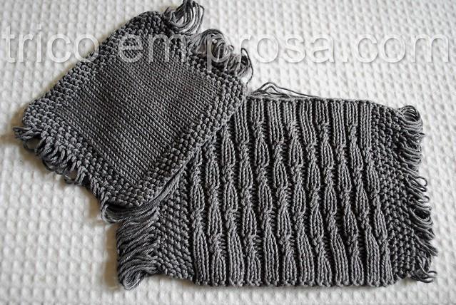 blog tricô em prosa - Amostras para as meias de algodão