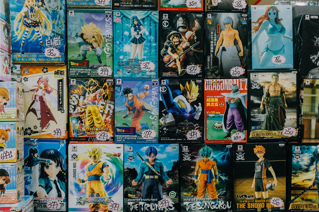 Figuras de Dragon Ball en Taipei City Mall