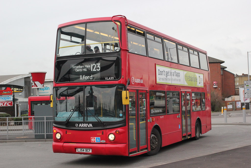 Arriva london north vla 99 lj54bcf tottenham hale bu for Time table bus 99
