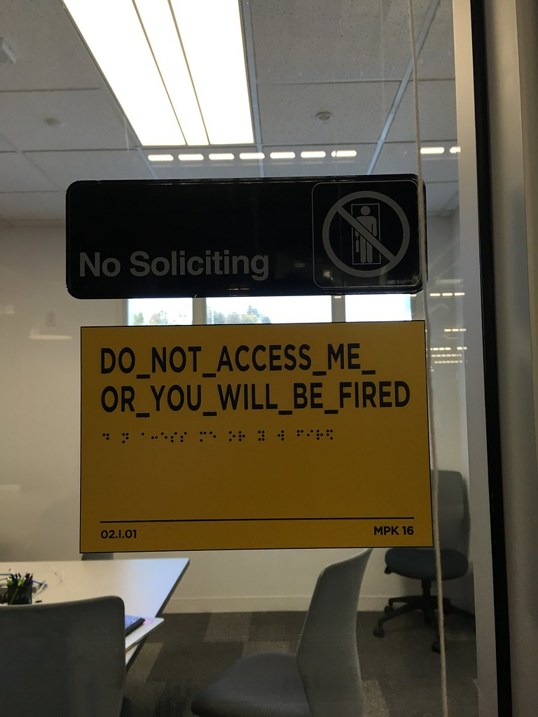 DO NOT ACCESS ME OR YOU WILL BE FIRED