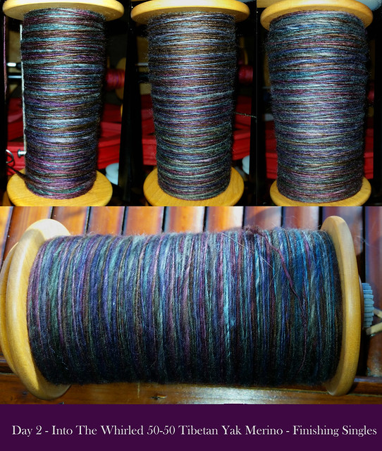 Day 2 Tour de Fleece - Into The Whirled 50-50 Tibetan Yak Merino - Finishing Singles