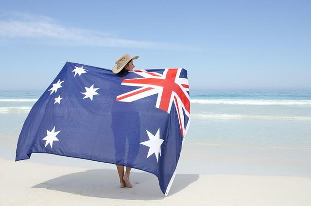 Australian-flag-white-sands-beach-superannuation-pensions