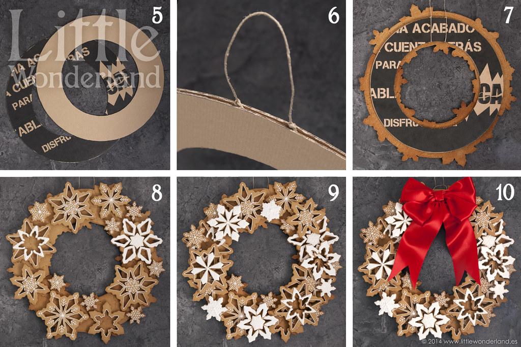 Corona de navidad con galletas de jengibre christmas wre - Como hacer coronas de navidad ...
