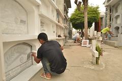 Adecentan los cementerios del cantón