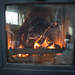 Fire in Morso 1440 Wood Stove
