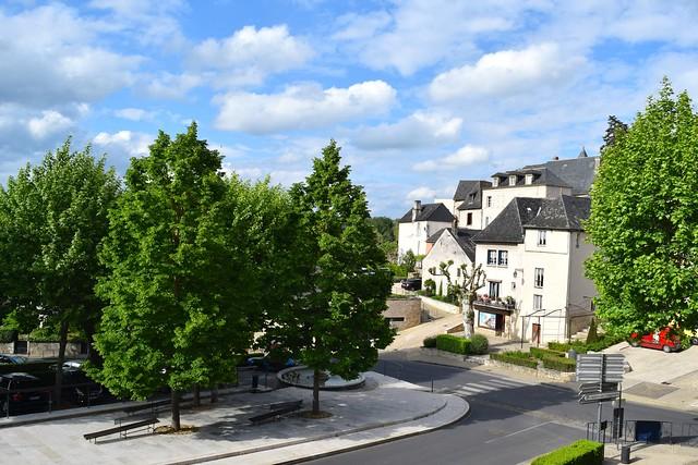 Balcony View from Hostellerie de L'Imaginaire, Terrasson | www.rachelphipps.com @rachelphipps