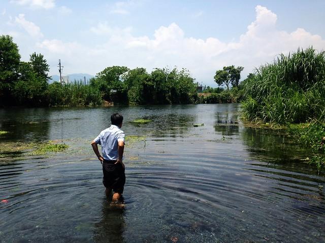 宜蘭水利會買下柯林第二湧泉池,為宜蘭農田打根基。攝影:廖靜蕙