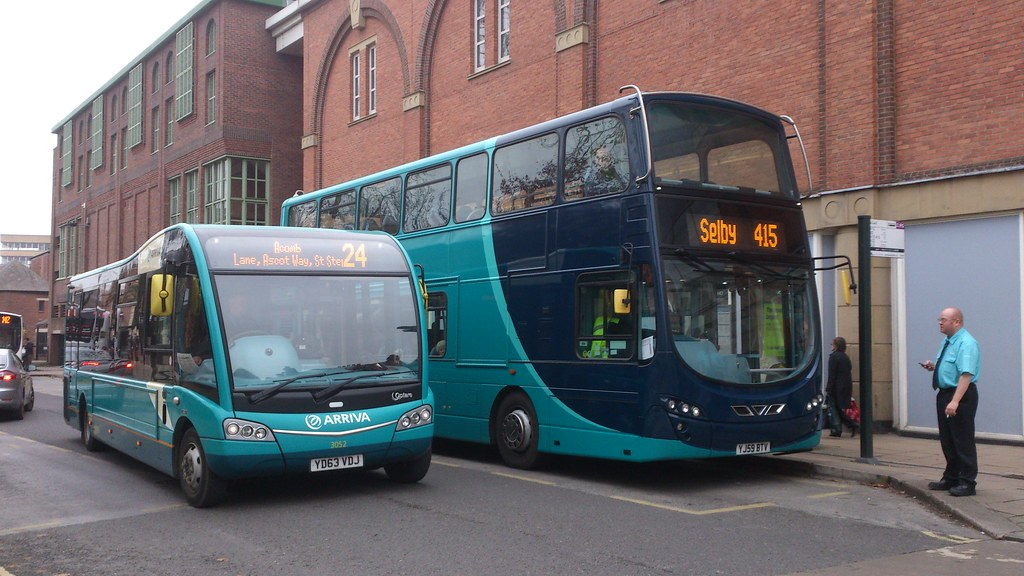 Yd63vdj 3052 Mini Bus And Yj59btv 1502 Arriva Max Yorkshir