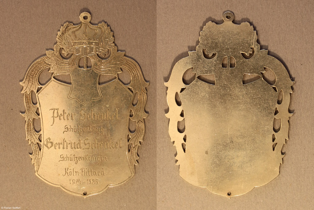 Koenigsschild Flittard von schenkel peter aus dem Jahr 1924