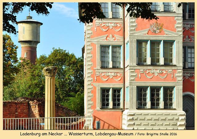 Ladenburg am Neckar ... Carl-Benz-Garage, Wasserturm, Neckar, Fachwerkhäuser, Lobdengau-Museum ... Altstadtmarkt ... Mini Bonsai Zwiebelchen ... Zwiebeln in Pfälzer Rotwein geschmort ... Fotos und Collagen: Brigitte Stolle 2016