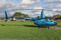 G-SMLE - 2016 build Robinson R44 Raven II, visiting Barton