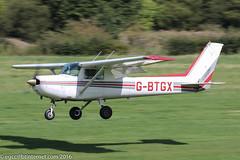 G-BTGX - 1984 build Cessna 152, arriving on Runway 26L at Barton