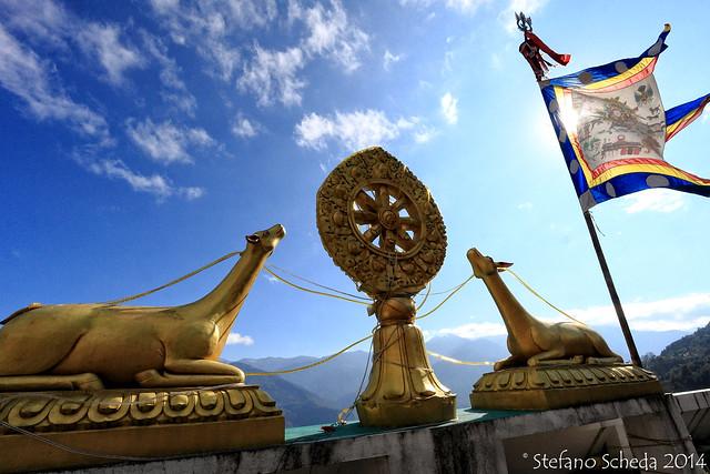 Dharmachakra at Khinmay Gompa - Tawang, Arunachal Pradesh, India